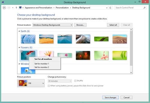 Windows 8 Dual Screen - different wallpaper #2