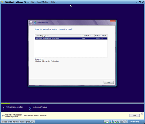 Windows 8 VMware Player Instalation  1 thumb - Installing Windows 8 in A Virtual Environment with VMware Player