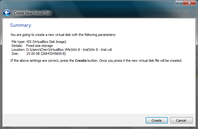 Installing Windows 8 in A Virtual Environment With Oracle