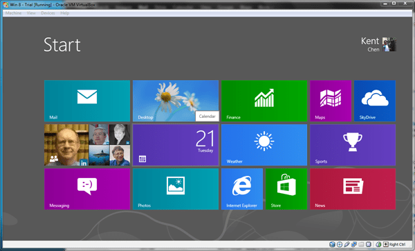 Windows 8 VirtualBox