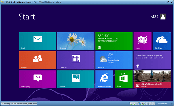 Windows 8 in VMware Player thumb - Installing Windows 8 in A Virtual Environment with VMware Player
