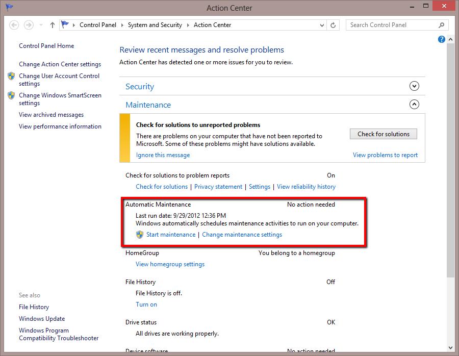 Maintenance in Progress Windows 8 What Does it Mean ? - Next