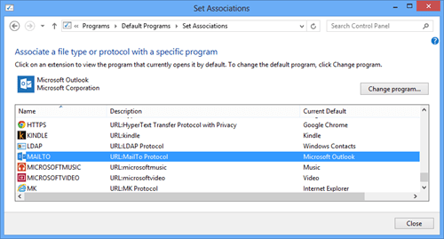 Change Default Programs MailTo popup done thumb - How To Change Default MailTo Behavior in Windows 8