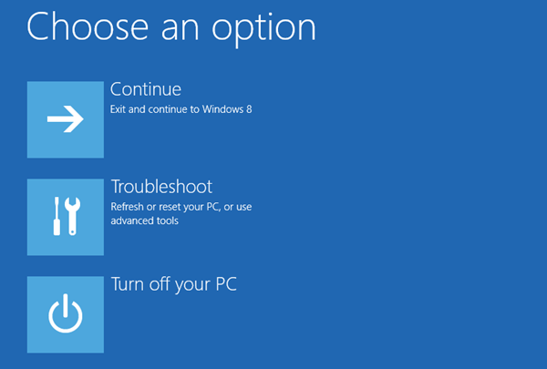 Windows 8 advanced boot options thumb - 3 Ways to Fire Up Windows 8 Advanced Boot Options