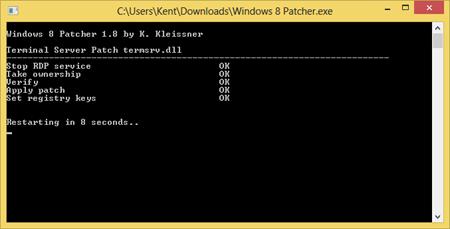 Applying Windows 8 Patcher