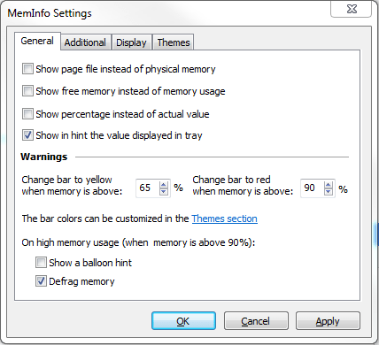Meminfo Settings thumb - Monitoring Your Memory & Page File Usage in Real Time with MemInfo