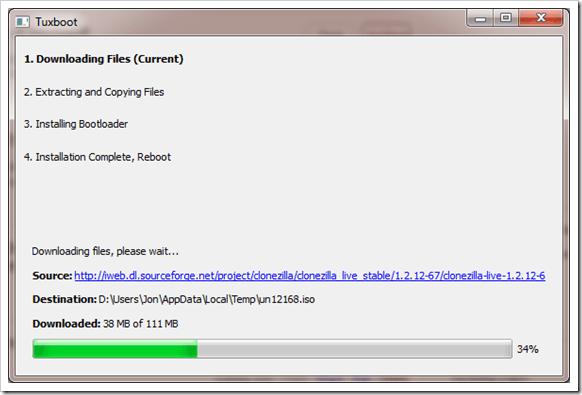 Tuxboot Create Bootable Clonezilla ISO image For Raw Hard