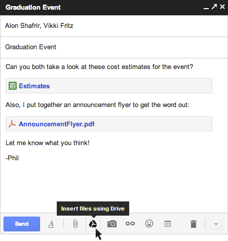 Gmail with Drive compose thumb - Sending Big Attachment Files in Gmail with Google Drive