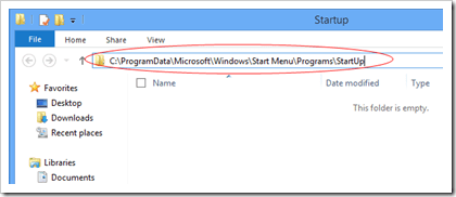 Windows 8 All User Startup location thumb - Where is the Startup Folder in Windows 8 and How To Easily Access to it?