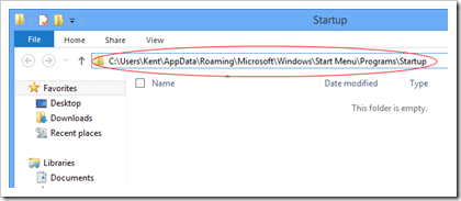 Windows 8 Startup location thumb - Where is the Startup Folder in Windows 8 and How To Easily Access to it?