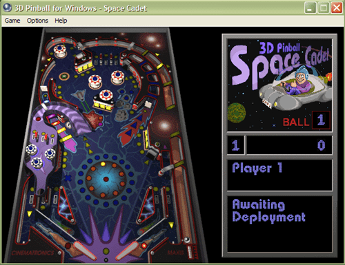 Pinball game XP version