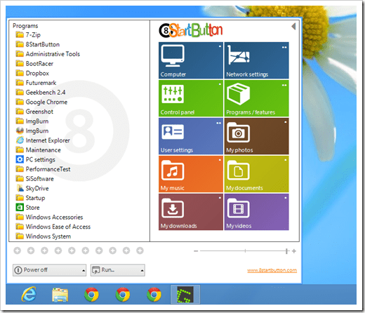 8StartButton start menu thumb - 8StartButton Brings A Different Start Menu in Windows 8