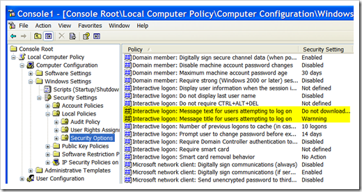 Group Policy - interactive log on