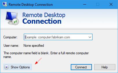 Nice Remote Desktop Connection   Show Options Home Design Ideas