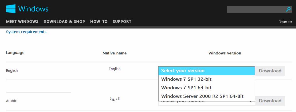 download internet explorer 10 for windows 7 64 bit english