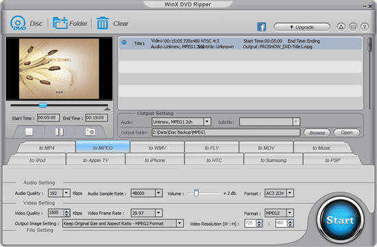 WinX DVD Ripper thumb - How To Extract Video Clip From A Video File or DVD Disc