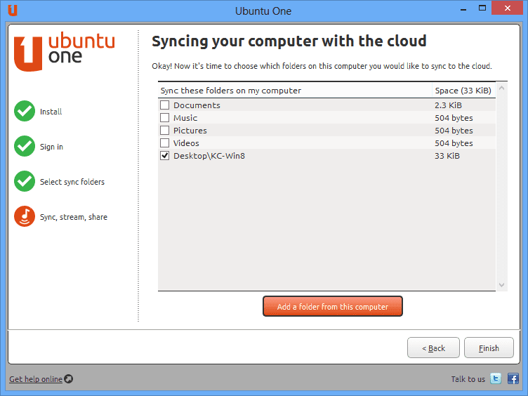 Ubuntu One Setup - Ubuntu One is Another Great File Sharing with 5G Free Cloud Space