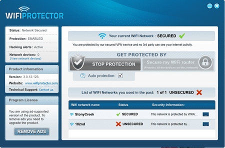 WifiProtector - VPN protected