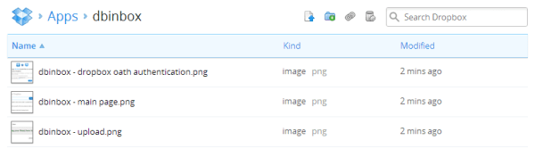 dbinbox - Dropbox folder