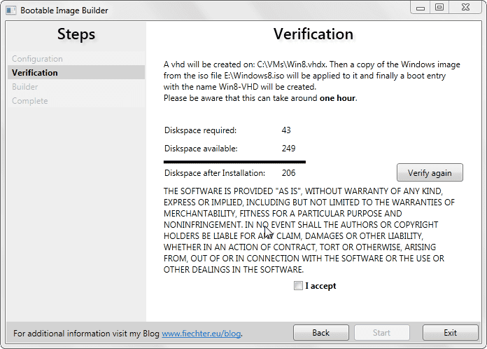Bootable Image Builder verification - Building Native VHD Boot for Dual-Boot in Windows 7 and 8 The Easier Way with Bootable Image Creator