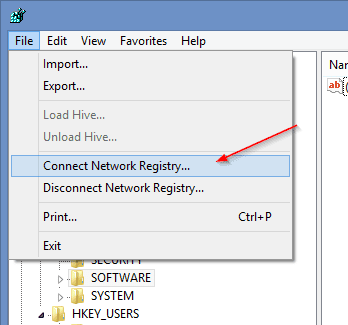 Regedit connect network registry - How To Remotely Enable/Disable Remote Desktop Connection on Windows 7 and Windows 8