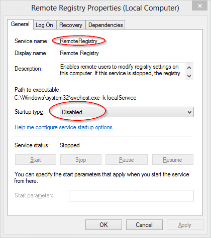 Remote Registry Service - How To Remotely Enable/Disable Remote Desktop Connection on Windows 7 and Windows 8