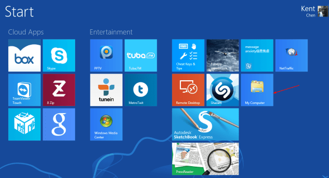 Start Screen with My Computer