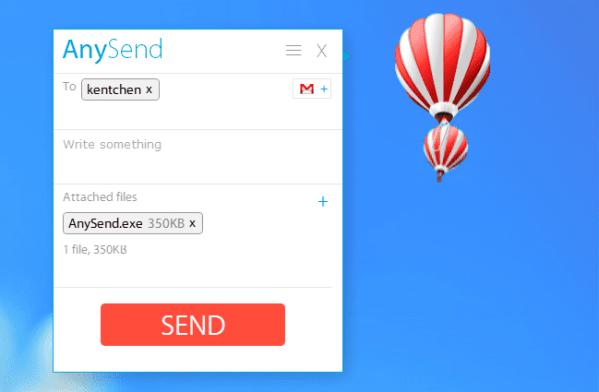 AnySend - sending file