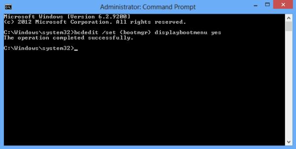 bcdedit command