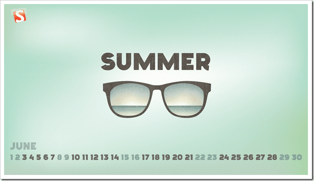 jun 13 Summer full thumb - Download Smashing Magazine Desktop Wallpaper Calendar June 2013 Windows 7/8 Theme