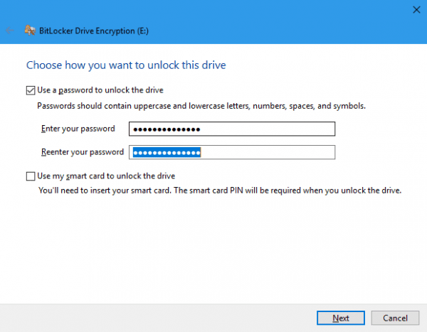 BitLocker Drive Encryption E  600x467 - How To Use BitLocker to Encrypt and Protect USB Drives in Windows 10