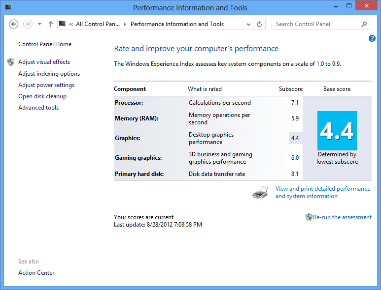 Displaying Windows Experience Index Rating in PowerShell