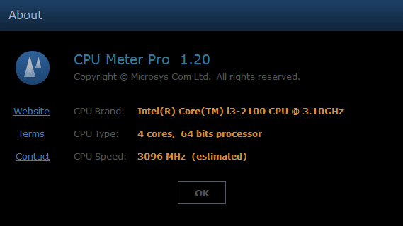 CPU Meter Pro About 2013 07 19 11 15 16 - Monitoring CPU Core Usage in Real Time with CPU Meter Pro