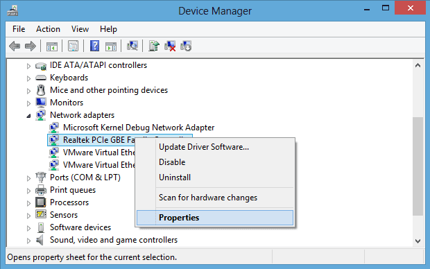 Device Manager device properties - Windows 8 Quick Tip: How To Check the Complete History of Troublesome Hardware