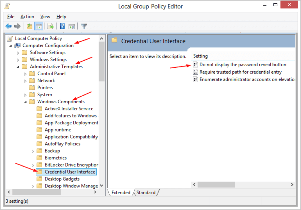 Figure 2 - Local Group Policy