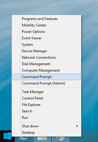 Windows Blue WinX Menu with Command Prompt - Windows 8.1 Quick Tip: Replace PowerShell with Command Prompt in the Start Menu and Win+X Menu