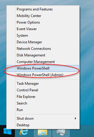 Windows Blue WinX Menu - Windows 8.1 Quick Tip: Replace PowerShell with Command Prompt in the Start Menu and Win+X Menu