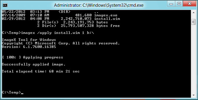 Windows To Go Apply ImageX - Making A Bootable Windows To Go USB Device with Windows 8.1