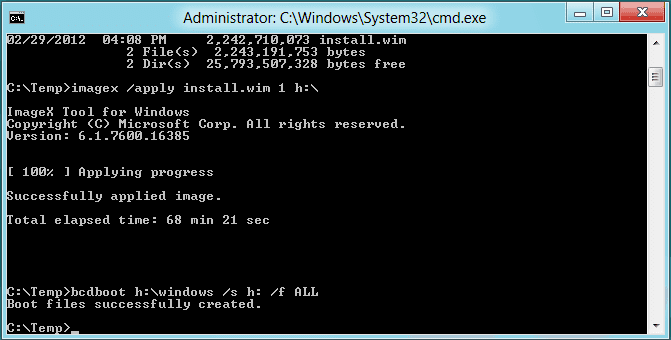 Windows To Go apply bootsect - Making A Bootable Windows To Go USB Device with Windows 8.1