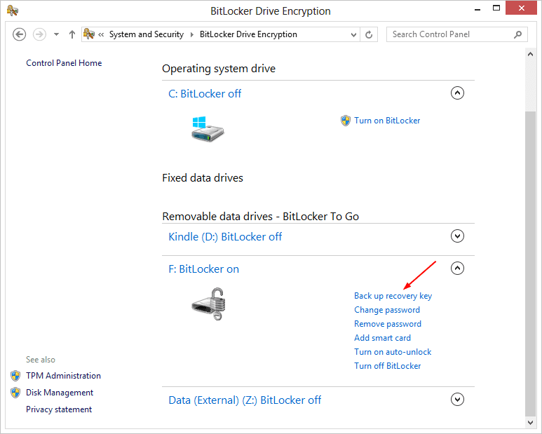 BitLocker Drive Encryption 2013 08 31 11 26 01 - Windows 8 Quick Tip: Get BitLocker Recovery Key The PowerShell Way