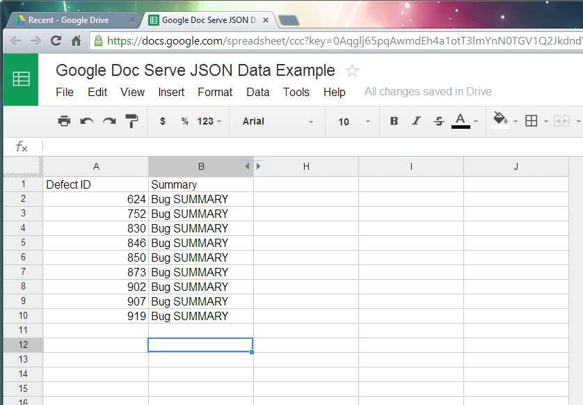 How To Use Google Doc Serve JSON From Excel Spreadsheet