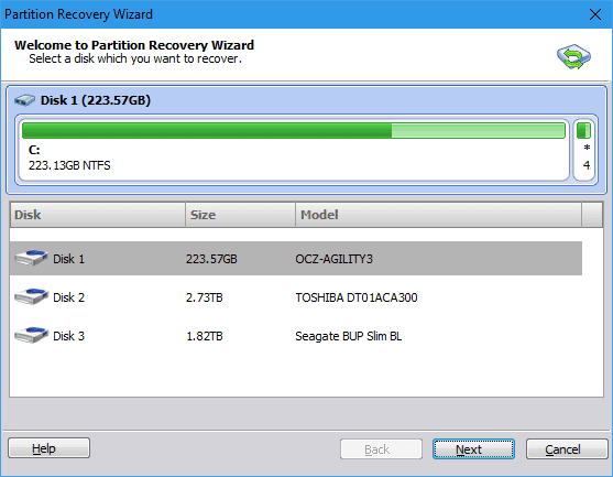 AOMEI Partition Assistant - Partition Recovery Wizard