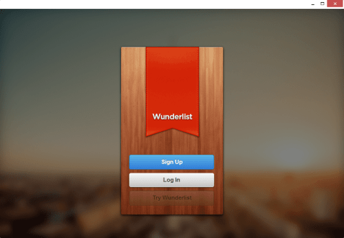 Chrome Native Desktop App - Wunderlist