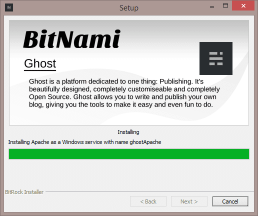 2013 10 15 2217 thumb - How To Install Ghost–A New Blog Platform On Windows In Less than One Minute