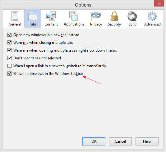 Firefox - Tab Preview Option