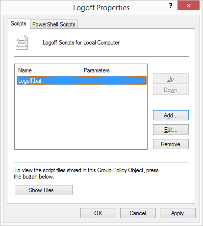 How To Run A Script or Command At Logoff in Windows 7 & 8