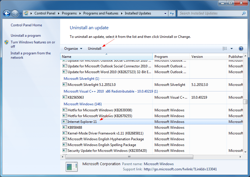 Removing Internet Explorer 11 In Windows 7 8 And 8 1 Nextofwindows Com
