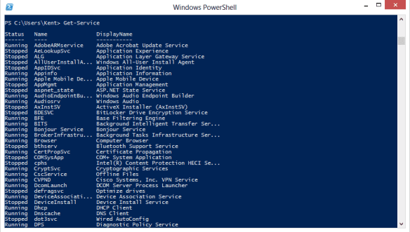 PowerShell - Get-Service