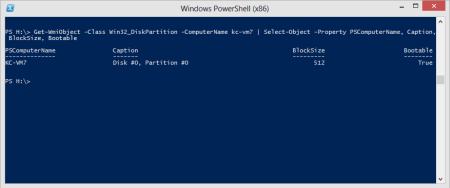 PowerShell - list partition info on a remote computer