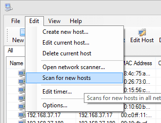 WOL2 - launch scan process